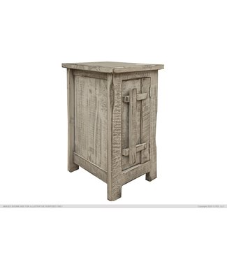IFD CHAIR SIDE TABLE SAN ANDRES GREY