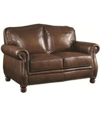 COASTER LEATHER LOVESEAT