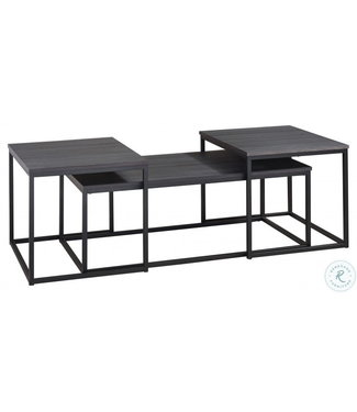 ASHLEY T215-13 3 PC OCCASIONAL TABLE SET YARLOW BLACK