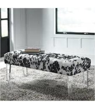 ASHLEY ACCENT BENCH BROOKLEE BLACK/WHITE