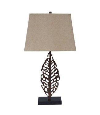 ASHLEY JOLISA TABLE LAMP IN BROWN