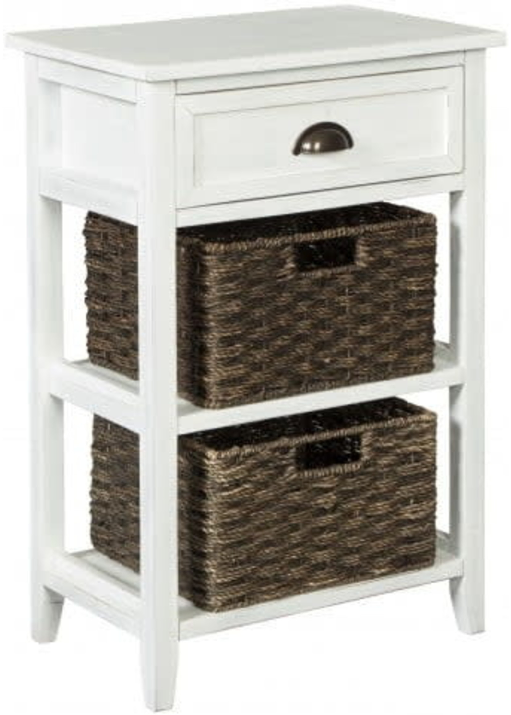 ASHLEY A4000137 ACCENT TABLE 1DR OSLEMBER WHITE