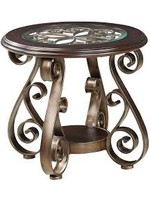 STANDARD BOMBAY ROUND END TABLE