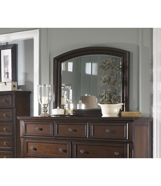 ASHLEY MIRROR PORTER RUSTIC BROWN