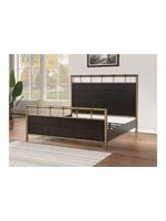 FLEXSTEEL COLOGNE KING BED IN BLACK OAK