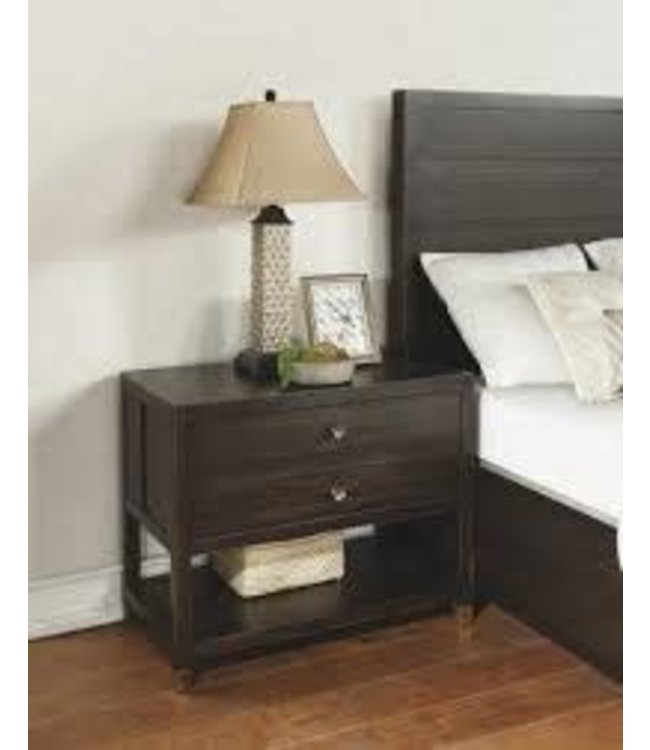 FLEXSTEEL COLOGNE OPEN NIGHT STAND IN BLACK OAK