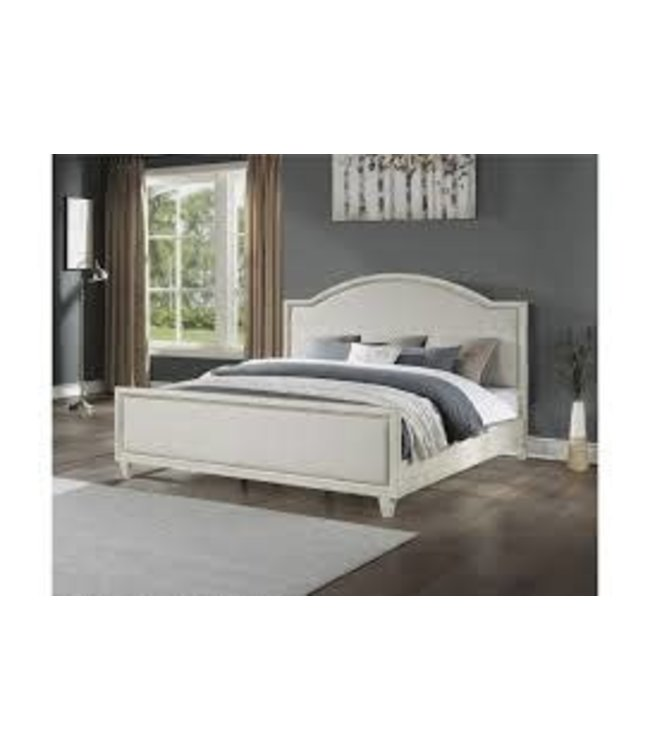FLEXSTEEL NEWPORT KING BED IN OFF WHITE