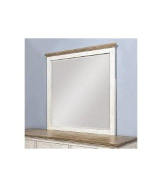 FLEXSTEEL NEWPORT MIRROR IN OFF WHITE