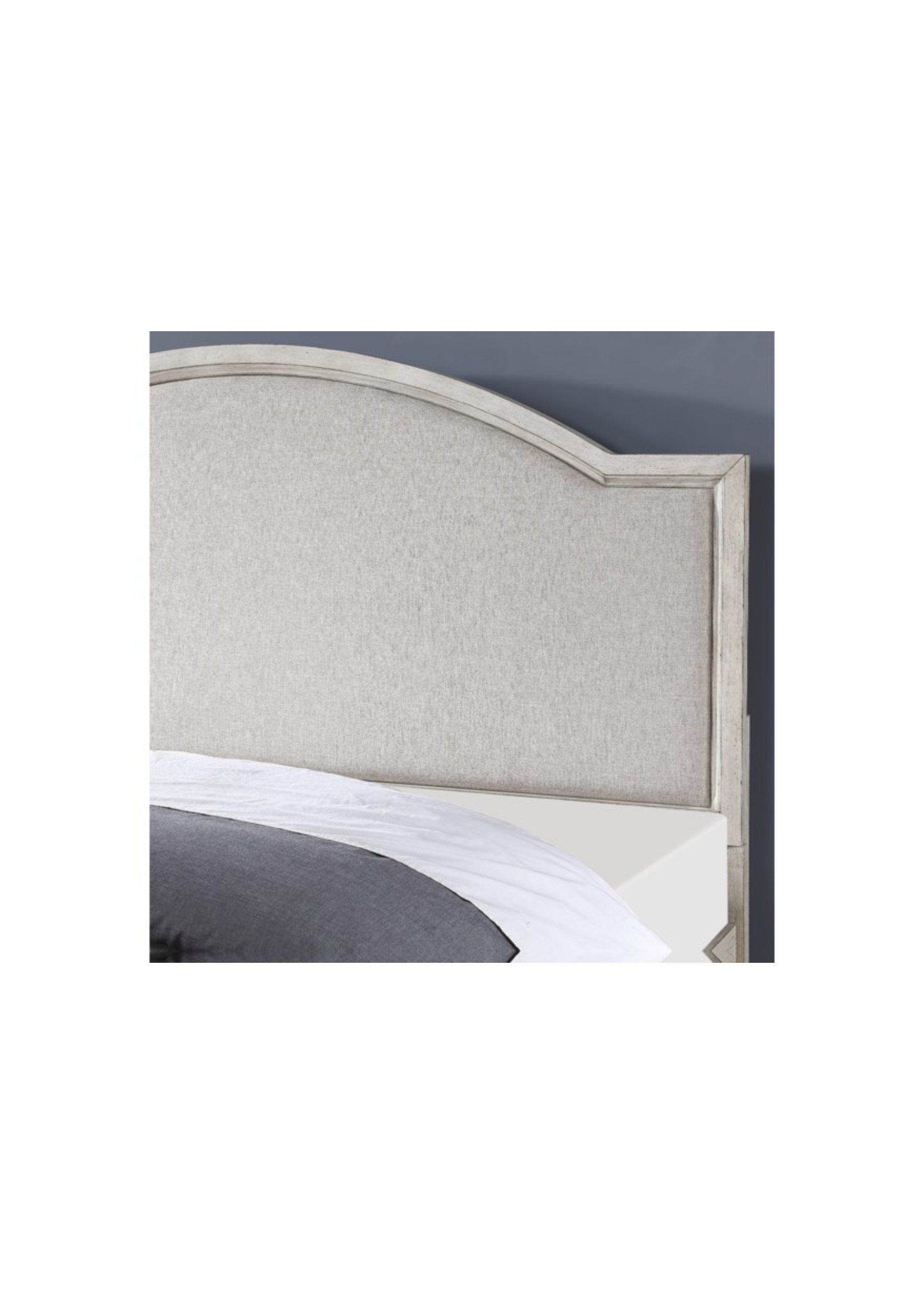 FLEXSTEEL NEWPORT KING BED IN OFF WHITE