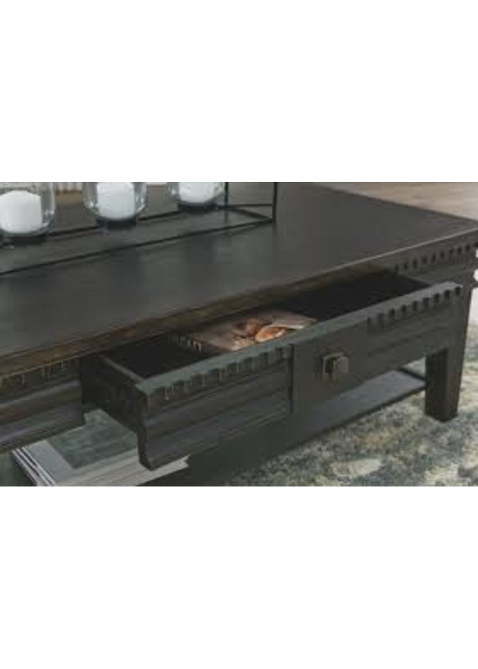 ASHLEY MINORE COFFEE TABLE IN BLACK
