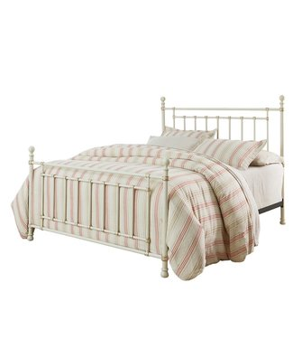 STANDARD BENNINGTON KING BED IN WHITE METAL