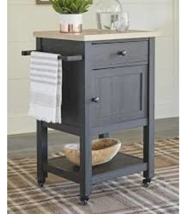 ASHLEY BAR CART BODERIDGE BLACK