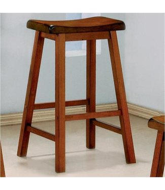 "COASTER 180059 STOOL 29"" SADDLE GENEVA OAK"