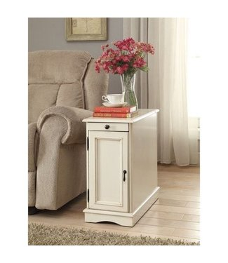 COASTER 900627 CHAIR SIDE END TABLE ANTIQUE WHITE *DISCONTINUED*