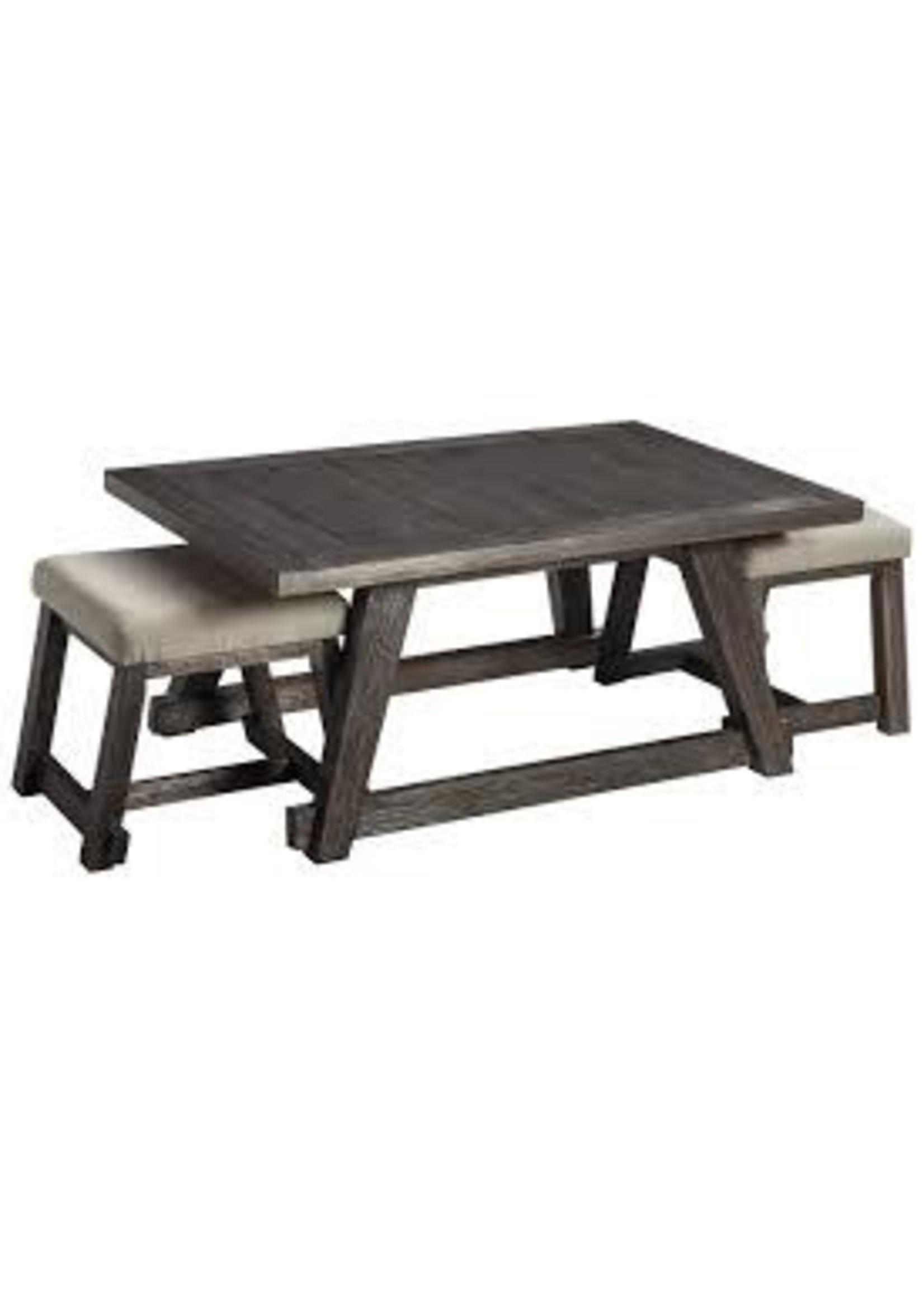 ASHLEY T426-1 COCKTAIL TABLE W/2 STOOLS HARPOLI