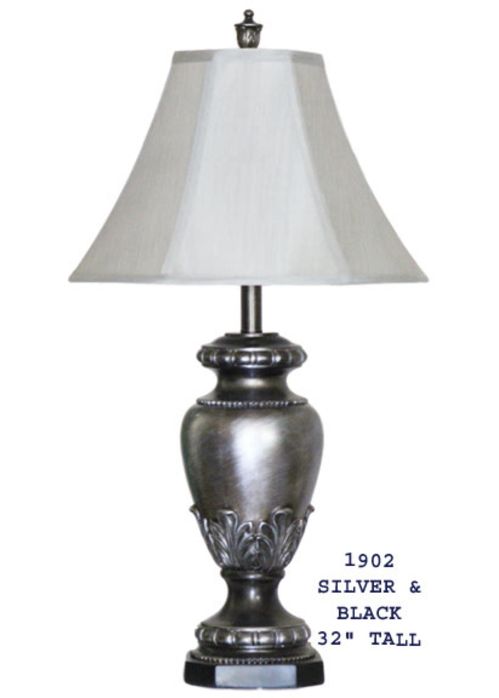 H&H LAMP TABLE LAMP IN GRAY & BLACK