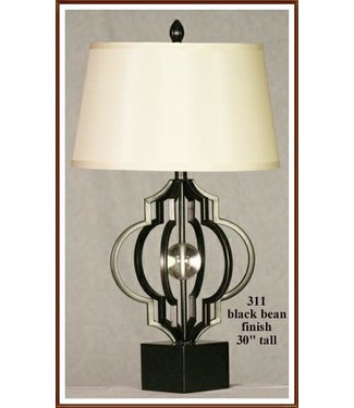 H&H LAMP TABLE LAMP WITH ACRYLIC BALL IN BLACK BEAN FINISH