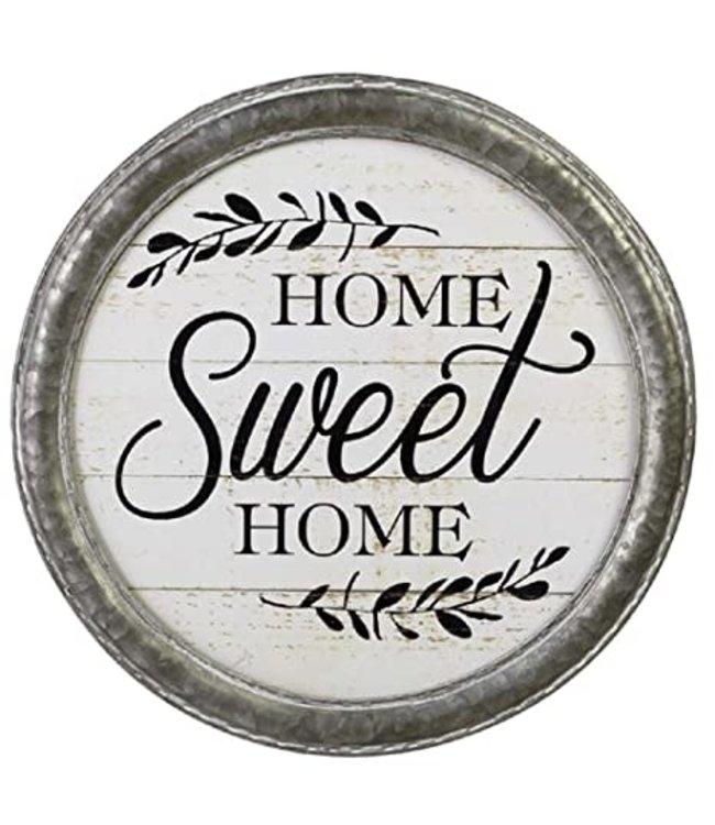 """GANZ GALVANIZED WALL ART """"HOME SWEET HOME"""""""