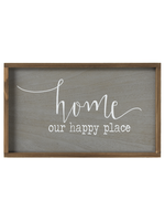 """GANZ WALL DECOR """"HOME OUR HAPPY PLACE"""""""