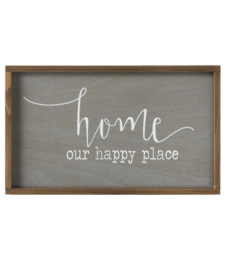 "GANZ WALL DECOR ""HOME OUR HAPPY PLACE"""