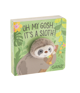 GANZ SLOTH FINGER PUPPET BOOK