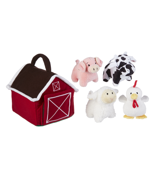 GANZ HAPPY HILL FARM PLUSH FARM SET