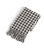 GANZ WOVEN THROW RECYCLED CREAM & NAVY WITH FRINGE