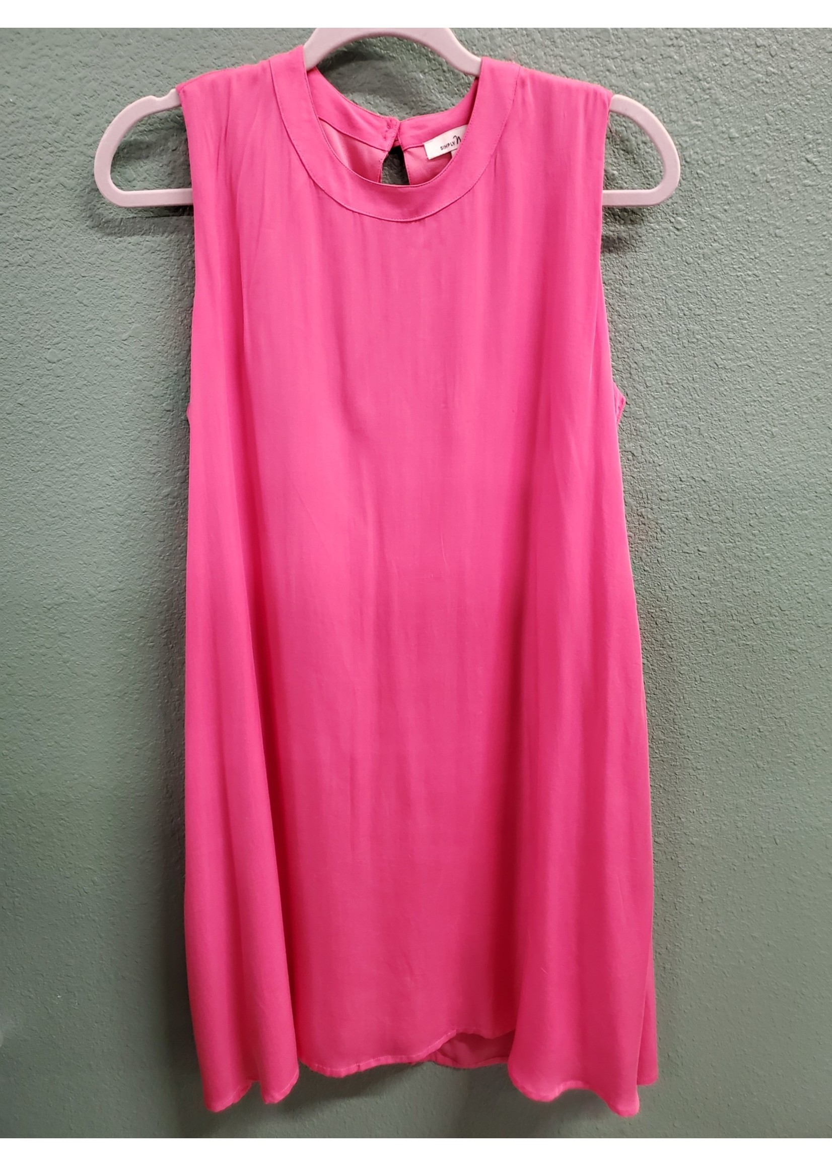 SIMPLY NOELLE DREAM POCKET TRAPEZE SLEEVELESS DRESS ASSORTED COLORS