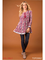 SIMPLY NOELLE CORNER CAFE TOP XXL ASSTORTED COLORS