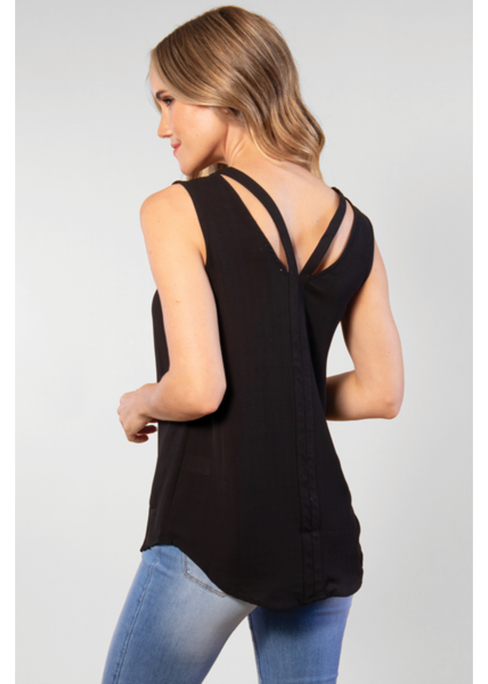 SIMPLY NOELLE CUT TO THE CHASE TOP ASSORTED COLORS S/M