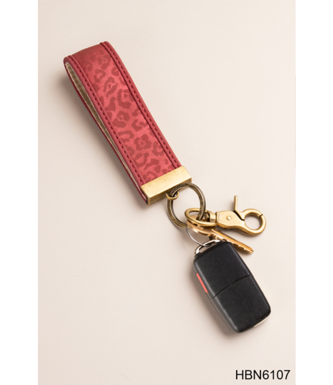 GANZ LUXE ASSORTED LEOPARD KEY CLIP