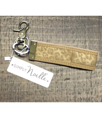 GANZ LUXE ASSORTED LEPOARD METALLIC KEY CLIP