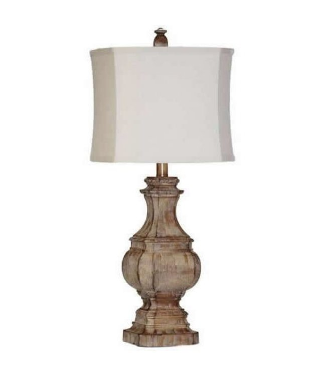 H&H LAMP TABLE LAMP WITH MEDIUM DISTRESSED FINISH