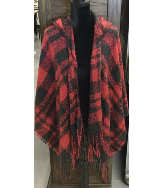 GANZ PINIC PLAID WRAP