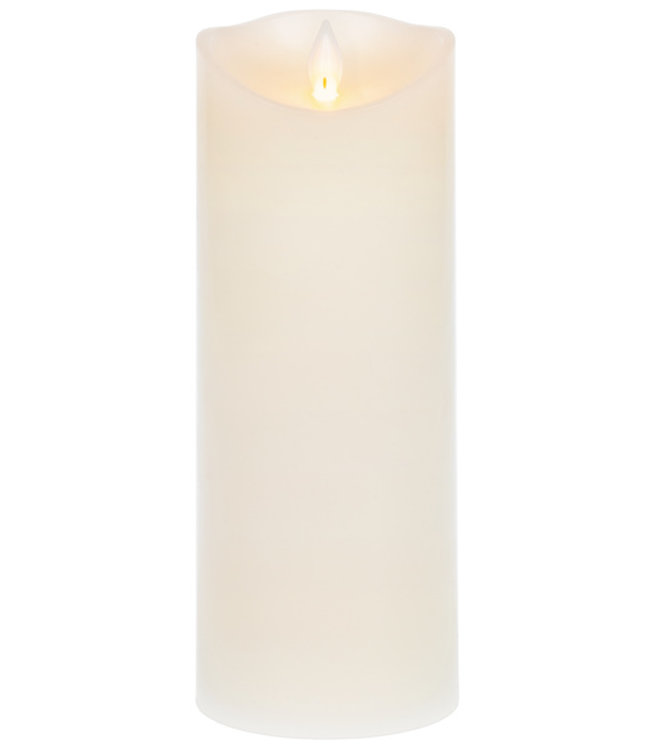 GANZ 3X8 WAX LED PILLAR CANDLE IN IVORY