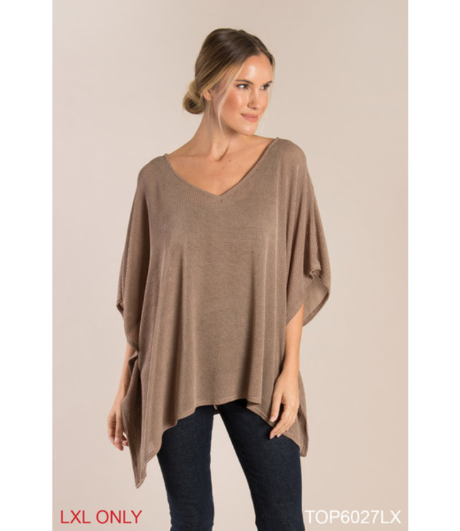 GANZ OPEN KNIT TOP IN ASSORTED COLORS