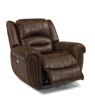 FLEXSTEEL TOWN POWER RECLINER WITH POWER HEADREST