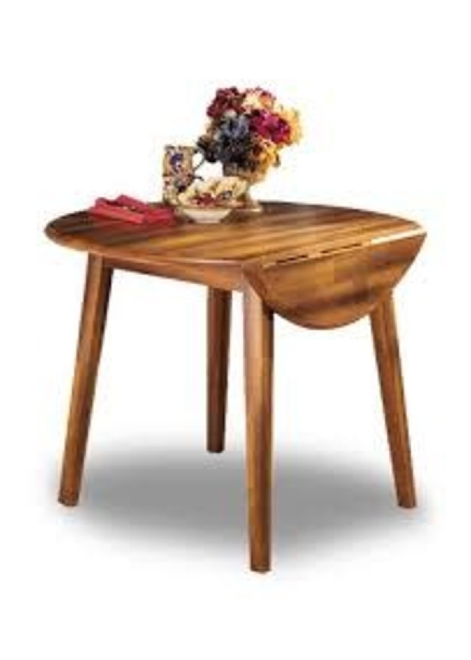 ASHLEY BERRINGER DROP LEAF DINING TABLE HICKORY