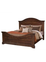 AMERICAN WDCRFT STONEBROOK KING PANEL BED IN  BROWN