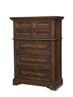 AMERICAN WDCRFT STONEBROOK 5 DRAWER CHEST IN BROWN