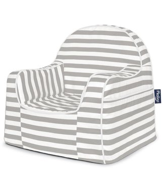 P'KOLINO LITTLE READER CHAIR WITH GREY STRIPES