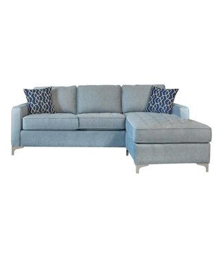 COASTER NASHUA SOFA WITH CHAISE IN BABY BLUE