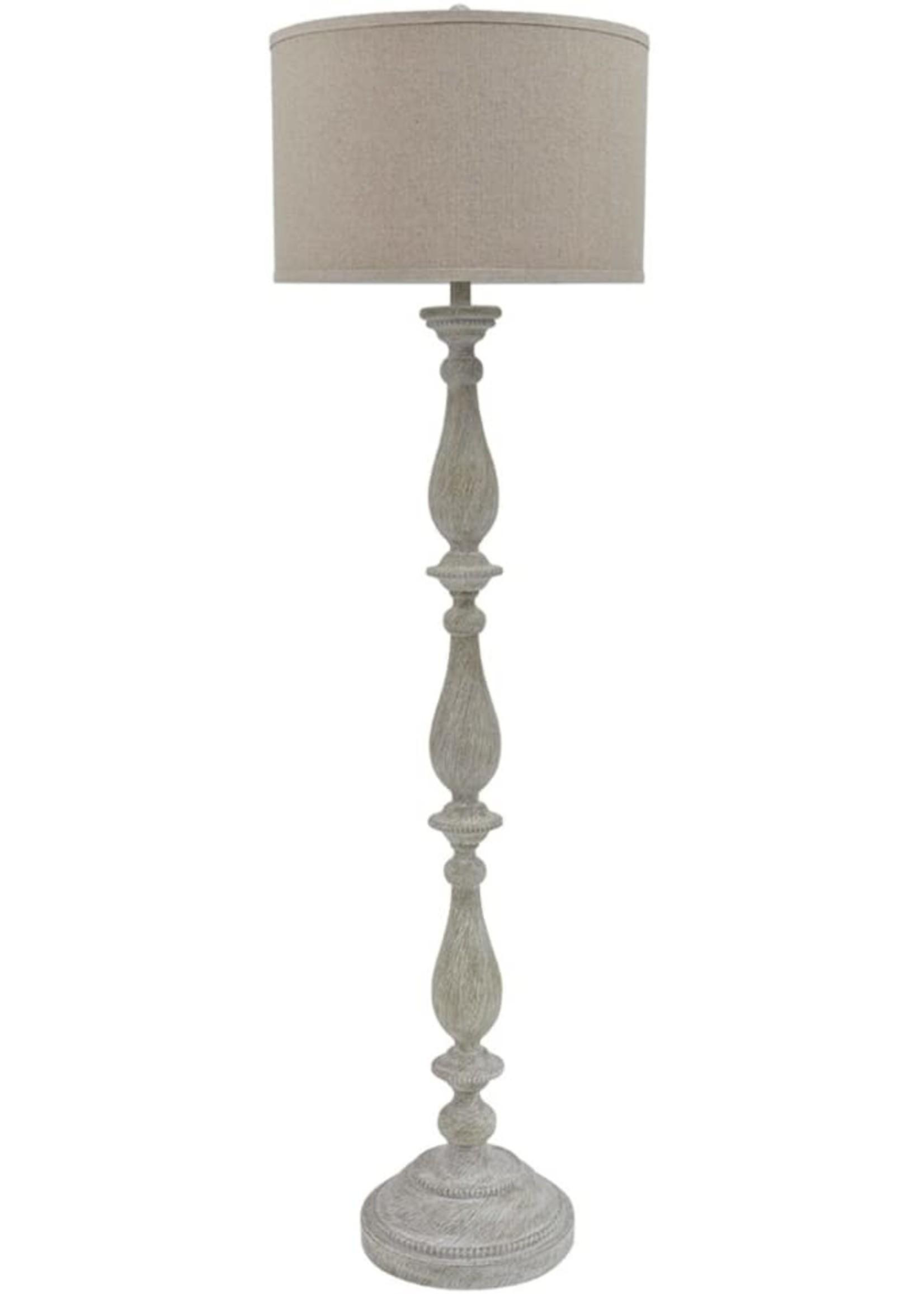 ASHLEY L235341 FLOOR LAMP BERNADATE WHITEWASH POLY