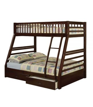 ACME JASON BUNK BED WITH DRAWERS IN ESPRESSO