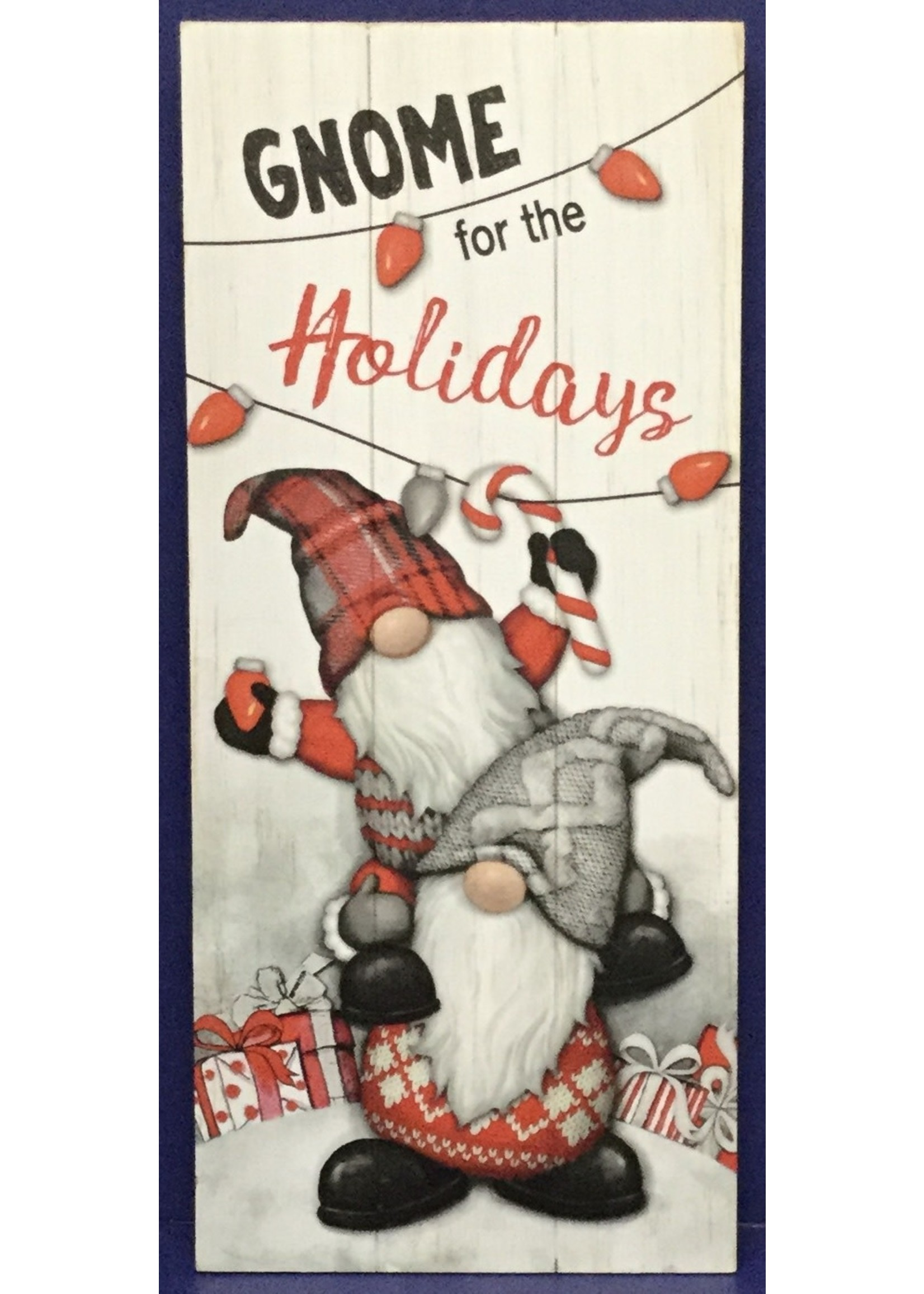 """GANZ WALL ART """"GNOME FOR THE HOLIDAYS"""""""