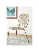 COASTER ACCENT CHAIR IN IRON BRASS
