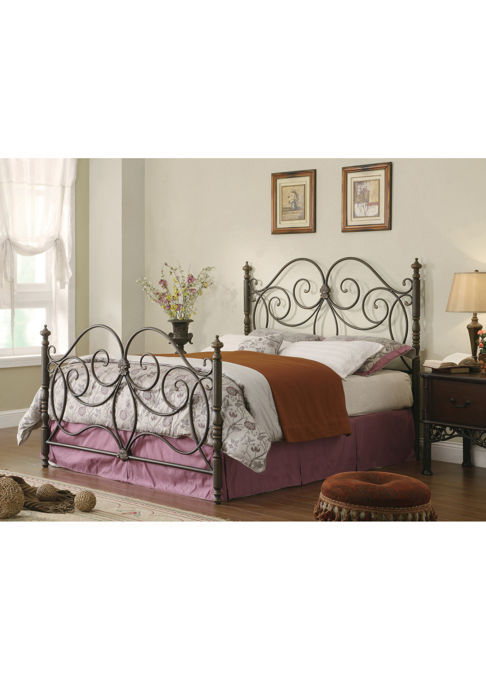 COASTER LONDON METAL QUEEN SIZE BED