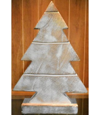 MIDWEST CBK WOOODEN CHRISTMAS TREE IN DISTRESSED WHITE