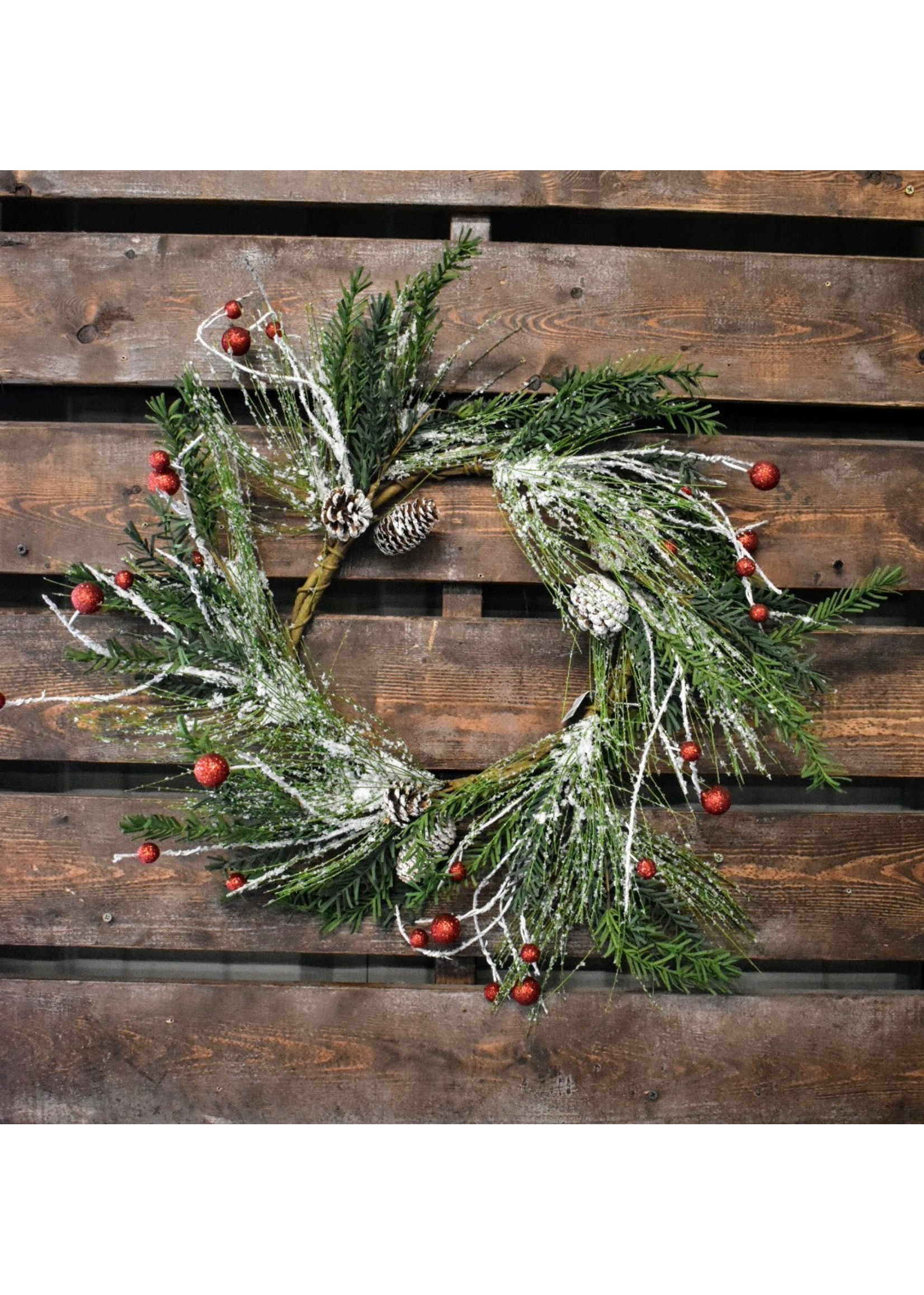 MIDWEST CBK HOLIDAY WREATH WITH PINECONES
