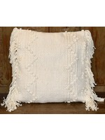 GANZ COTTON PILLOW WITH BUBBLES AND FRINGE